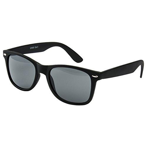 Ciffre EL-Sunprotect® Sonnenbrille Nerdbrille Brille Nerd Matt Gummiert Schwarz UV400