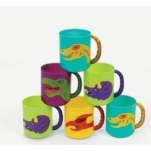 Plástico Dinosaurio tazas