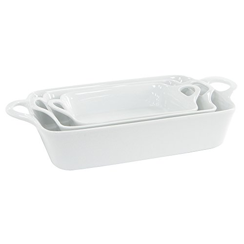 ProCook Porcelain Oven to Table Dish Set 3 Piece White