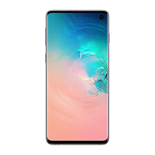 "Samsung Galaxy S10 Smartphone, Display 6.1"", 128 GB Espandibili, Dual SIM, Bianco (Prism White) [Versione Italiana]"