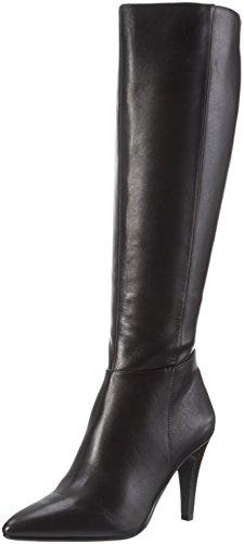 Tizian Damen GB8579A-47 Langschaft Stiefel, Schwarz (Schwarz), 41 EU (Glattleder-stiefel)