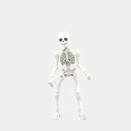 Naisicatar Posable Halloween-Skelett-Ganzkörper-Skelett mit beweglichen Gelenken Dekor Scary Mann Knochen Gruselige Partei Dekoration Spaß Spielzeug für ()