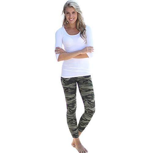 MEIbax Leggings Deportes Pantalones mujeres Camuflaje