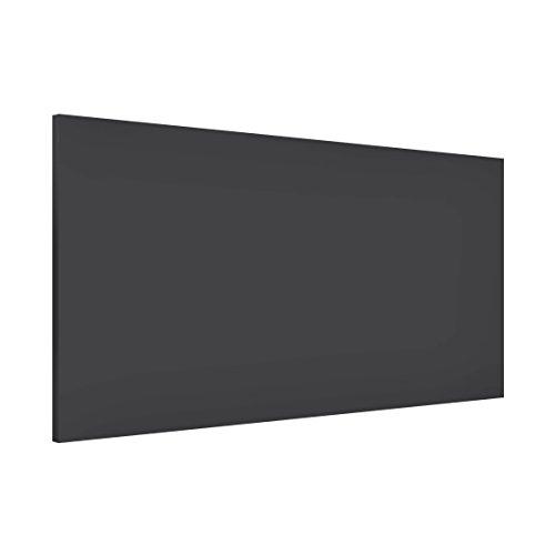 Apalis 108743 Magnettafel Memoboard Design Quer Metall Magnet Pinnwand Motiv Wand Stahl Küche Büro, 37 x 78 cm, dunkel grau