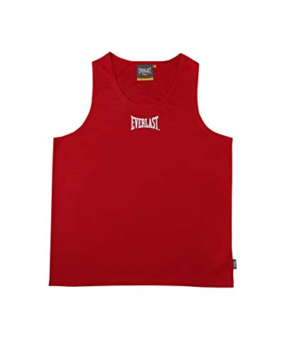 Everlast 4420 - Camiseta de Boxeo Unisex, Color Rojo, Talla L