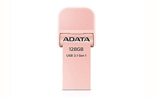 ADATA AI920 128GB i-Memory Lightning/USB 3.1 Speicherstick für iPhone, iPod, iPad, iOS-Geräte, Apple MFi zertifiziert, Rotgold (AAI920-128G-CRG)
