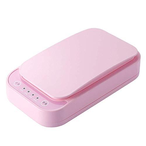 Portable Smart Phone UV Sterilisator, Sterilisation Aromatherapie Desinfektor multifunktionale Handy Sterilisator Reiniger Desinfektion Box mit USB-Lade,Pink