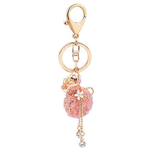 Spezielle Mode Kristall Krone Anhänger Frauen SchlüselAnhänger Tasche Handtasche Dekoration Tasche Anhänger,Rosa,13cm+4 * 3.5cm