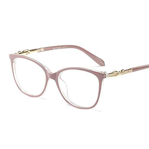 Easy Go Shopping Leichte optische Brillengläser aus Strassstein, stilvolle Brillenfassungen, Tempel Sonnenbrillen und Flacher Spiegel (Farbe : Lila)