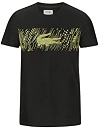 145eec18e3 Lacoste TH3496 Hombre Camiseta Cuello Redondo