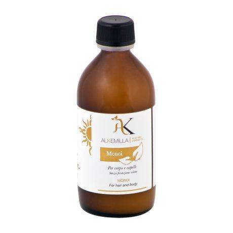 ALKEMILLA - Aceite de Monoï Natural - para el Cuerpo y el Cabello, Súper Bronceadora, sin Protección Solar - Vegano, No Testado en Animales - 200 ml
