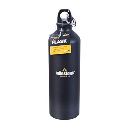 Milestone Camping-Trinkflasche - Schwarz, 0,75 Liter