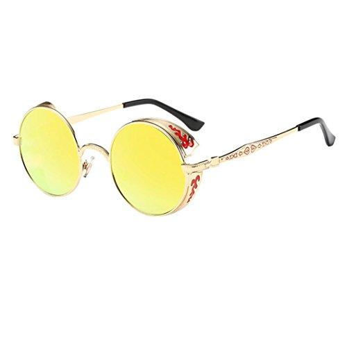 age Classic Metallrahmen Sonnenbrille Katzenaugen Brille Reflektierenden Spiegel (E-I) (Ei In Einem Frame)