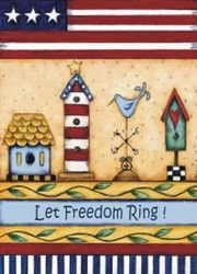 ART INTERNATIONAL Let Freedom Ring Patriotische House Flagge