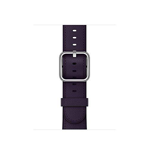 Apple klassisches Lederbraccialetto Watch 38mm dunkelaubergine