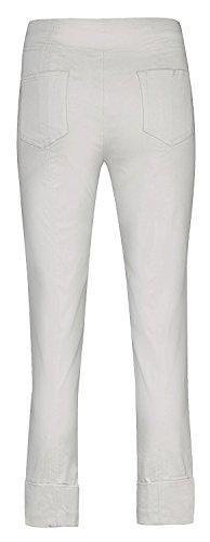 Bella von Robell Slim Fit 7/8 Schlupfhose Stretchhose Damen Hosen #Bella 09versch.Farben Silber(92)