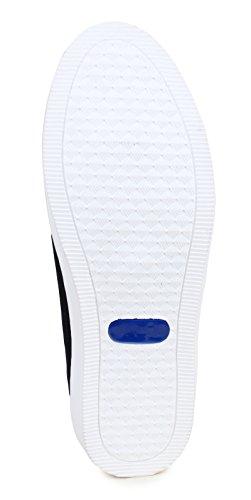 usure loafer canvas partie de chaussures pour hommes glissent sur la conduite pantoufle chaussures de sport noir et bleu