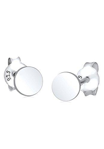 Elli Damen Ohrringe mit Kreis Symbol im Geo Trend Basic in 925 Sterling Silber