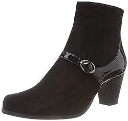 Gerry Weber Shoes Louanne 16, Damen Kurzschaft Stiefel, Schwarz (Schwarz 100), 41 EU (7.5 UK)