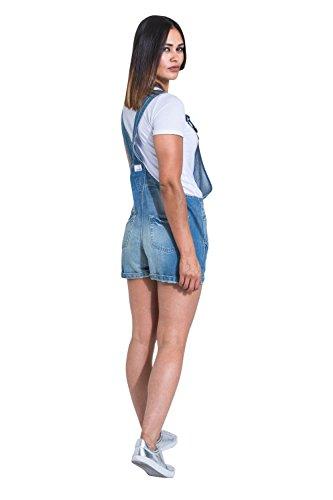Uskees Damen Latzshorts - Aged Blue Kurze Overalls XENYAAGED-14 Damen Bib Overalls