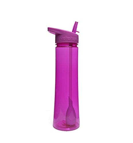 refresh2go elegante botella de filtro de agua, 22-ounce