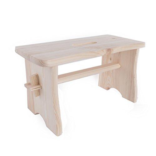 SEARCHBOX Kinder Holz Hocker/unlackiert Pinewood Kleiner Schritt/Kleinkind Holz Stuhl/40x 19x 21cm (Schritt Stuhl Hocker)