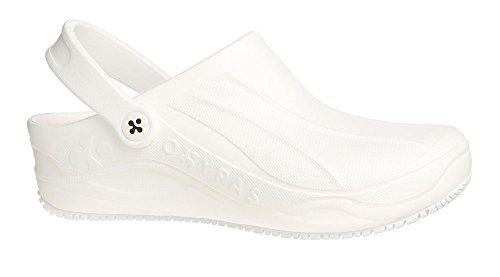 Oxypas Smooth Unisex Arbeits- und Sicherheitsschuhe ESD SRC, Farbe: weiß, Größe: 40