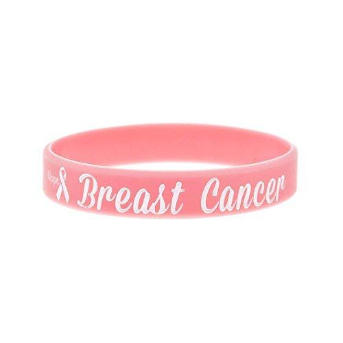 rmband Brust Krebs weichen Hand Silikonring Warnung Wörter Armband inspirierende Hand Ring kreatives Geschenk ()