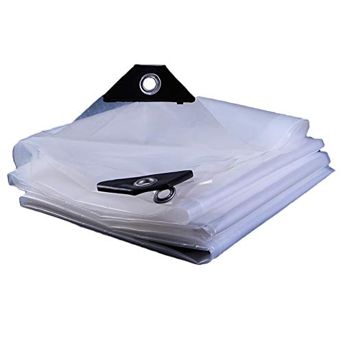 WUZMING Flugzeug Gewebeplane Gartenbalkon Wasserdicht Transparent Doppelseitige Multifunktion Mit Metallloch Polyethylen, 24 Größen (Color : Clear, Size : 4x8m) -