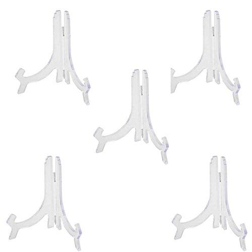 Preisvergleich Produktbild SIDCO ® 5 x Tellerständer Tellerhalter Teller Ständer Halter Aufsteller Acryl Stütze