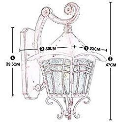 Lampes Murales Extérieures en Fer Forgé Américain Industriel Vintage en Plein Air Étanche Unique Tête Murale Rétro Créatif Simple Balcon Porte Extérieur Mur Jardin Verre Lumière Lanterne Mural Extéri