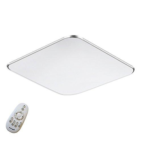 SAILUN 36W Ultra mince LED Régulable Plafonnier Lampe Moderne Lampe de Plafond pour salon, Cuisine, chambre à coucher, Hôtel - Argenté