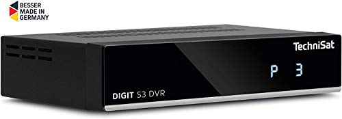 TechniSat Digit S3 DVR hochwertiger digital HD Sat Receiver (HDTV, DVB-S/S2, PVR Aufnahmefunktion, Timeshift, HDMI, USB, vorinstallierte Programmlisten, Unicable tauglich) schwarz