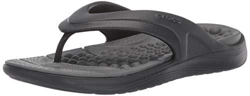 Crocs Reviva Flip U, Scarpe da Spiaggia e Piscina Unisex-Adulto, Nero (Black/Slate Grey 0dd), 42/43 EU