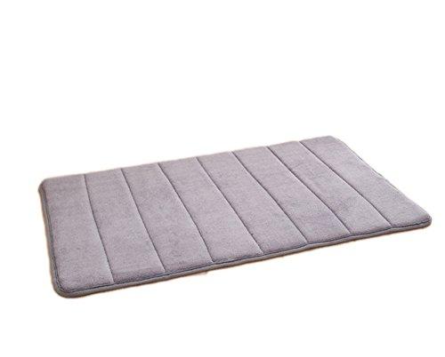 westeng 1pc microfibra de espuma con efecto memoria Plain alfombra de baño antideslizante trasero 40x 60cm