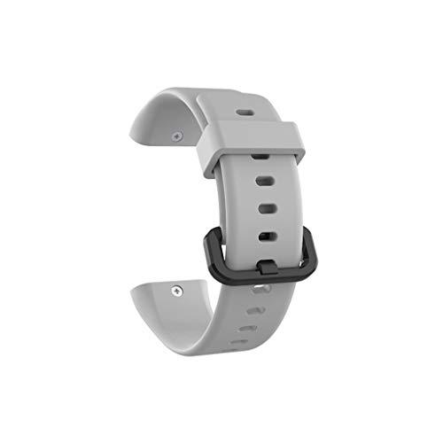 QHJ Armband für Xiaomi AMAZFIT COR 2 Watch, Sport Weiche Silikon Punkt Armband für Xiaomi AMAZFIT COR 2 Uhr (Grau) -