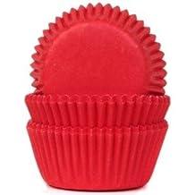 MINI - Muffinförmchen - 50 Stück - 35x22,5 mm - samtrot - optimal für Mini Muffins, Cake Pops
