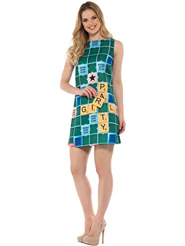Luxuspiraten - Damen Frauen Scrabble Kostüm Kleid