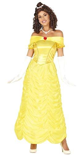 Guirca Costume Belle Bella Bestia Donna Adulta Taglia M 38-40, Colore Giallo, 88605