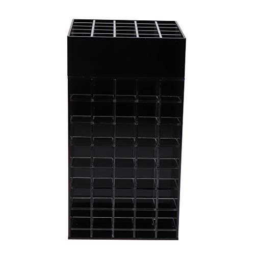 B Blesiya Support D'affichage Compact De Poudre Organisateur De Maquillage à 360 Degrés pour Cas De Stockage Pinceaux Bijoux - Noir