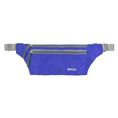 Imported Fanny Waist Belt Bag Sport Hip Travel Camping Hiking Zip Pocket Men Blue  available at amazon for Rs.210