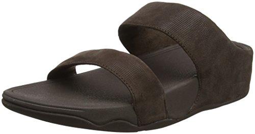 44f4e83bc52 FitFlop Damen LULU Slide Shimmer-Check Sandalen