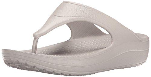 crocs Wn-Platform Flip, Pantofole Donna silber