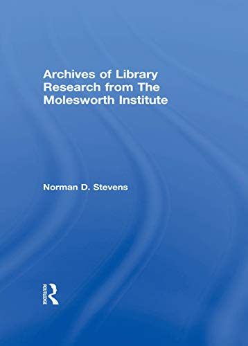 Descargar Archives of Library Research From the Molesworth Institute Epub Gratis