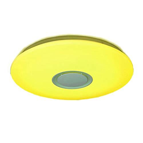 Preisvergleich Produktbild YWYU Drahtlose Bluetooth Musik Bunte Deckenleuchte Runde LED Embedded Variables Licht Deckenleuchte Fernbedienung Kinderzimmer Schlafzimmer Studie Nachtlicht (watt : 24w)