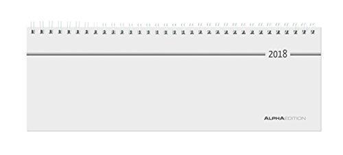 Tisch-Querkalender 2018 - 1 Woche 1 Seite - (28,5 x 10)