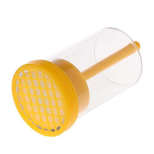 CUEYU Bienenkönigin Flasche,Bee Queen Marking Catcher Einhand Marker Flasche Plunger Plüsch Werkzeug -