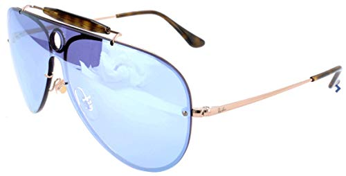RAYBAN JUNIOR Unisex-Erwachsene Sonnenbrille Blaze Shooter, Copper/Darkvioletmirrorsilver, 32 (Ray Shooter Aviator Ban)