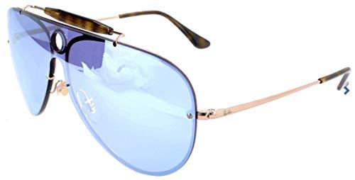 RAYBAN JUNIOR Unisex-Erwachsene Sonnenbrille Blaze Shooter, Copper/Darkvioletmirrorsilver, 32
