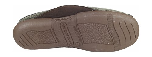 Cotswold Mens Westwell Mule Comfortable Textile Lined Slippers Brown Marron - Marron